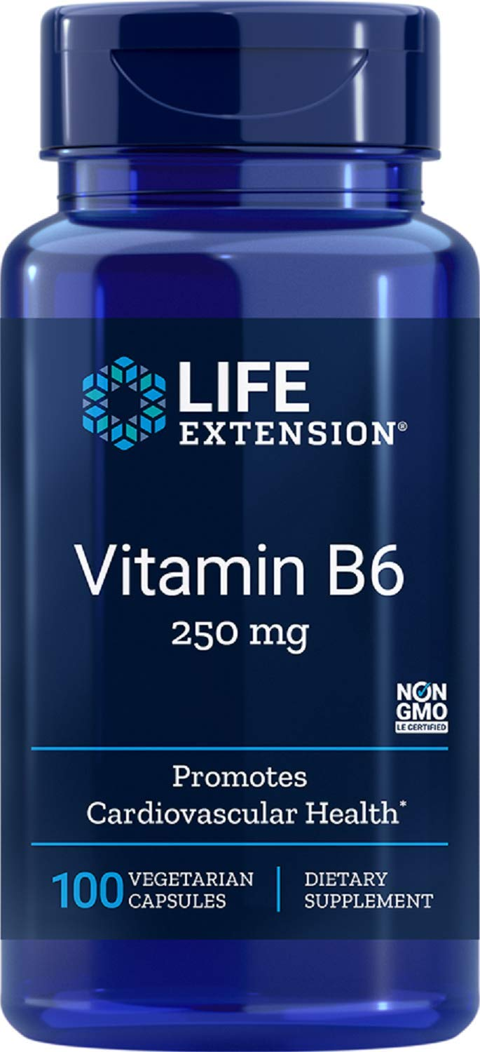 Life Extension Vitamin B6 250 mg, 100 Vegetarian Capsules: Health & Personal Care