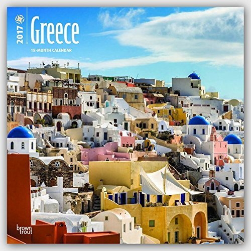 2017 Monthly Wall Calendar - Greece