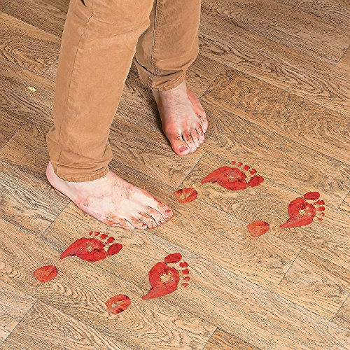 Set of 16 Bloody Footprints Floor Clings