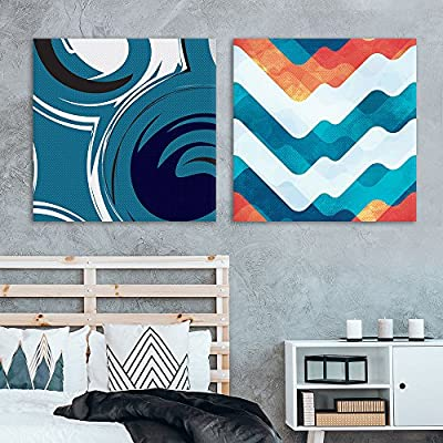 Pretty Expertise, Professional Creation, 2 Panel Square Abstract Patterns Patterns x 2 Panels