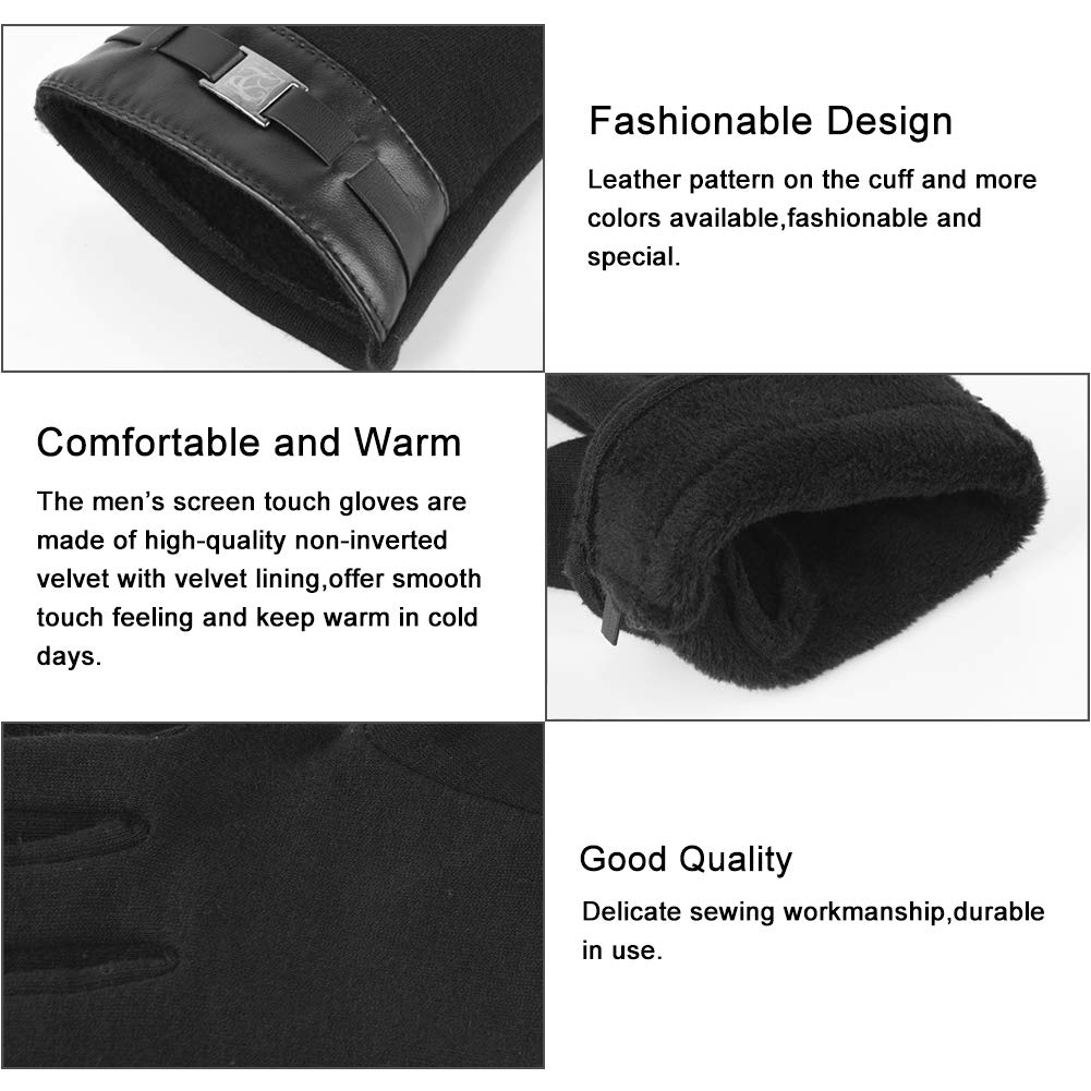 Vbiger Unisex Touch Screen Gloves Winter Texting Mittens Cold Weather Gloves