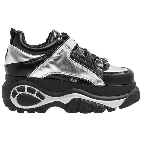separation shoes bdc3b 72424 Buffalo Womens Classics 2.0 Leather Black Trainers 4 UK ...