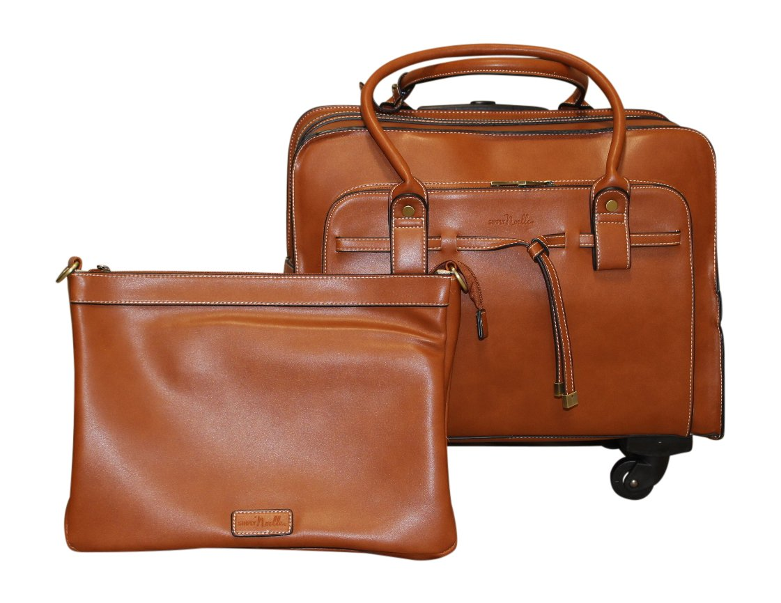 Simply Noelle Tied Up Roller Bag, Whiskey