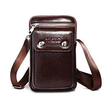 order new images of finest selection Aolvo Petite Ceinture Sac banane pour homme, cuir vertical ...
