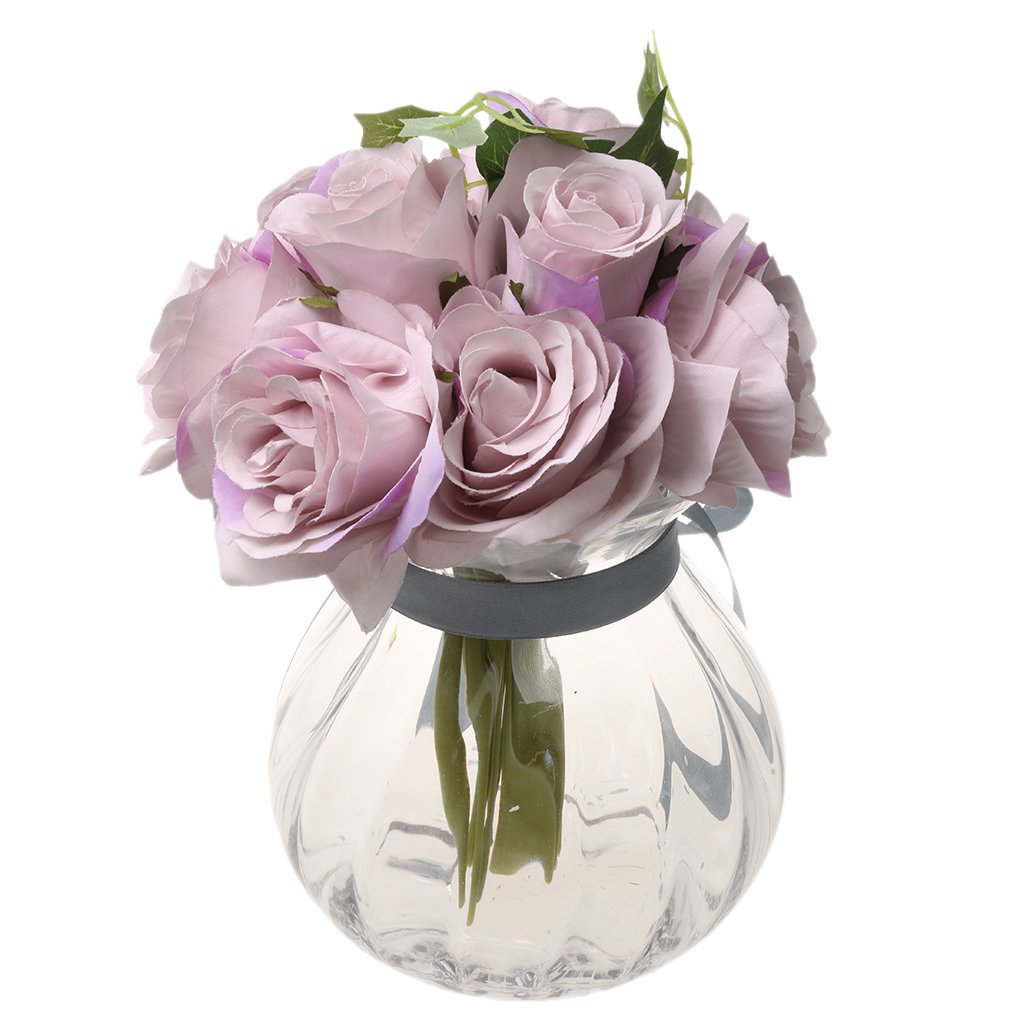 Homyl artificial 10 head silk rose hydrangea bridal bridesmaid homyl artificial 10 head silk rose hydrangea bridal bridesmaid flower bouquet wedding party foral champagne izmirmasajfo