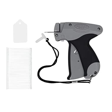 Amram Comfort Grip Tagging Gun Kit with 1250 2 Inch Attachments and 500 1 3/4 x 1.1 Inch Merchandise Tags for Standard Clothing Tagging Applications Easy to Assemble Load and Use