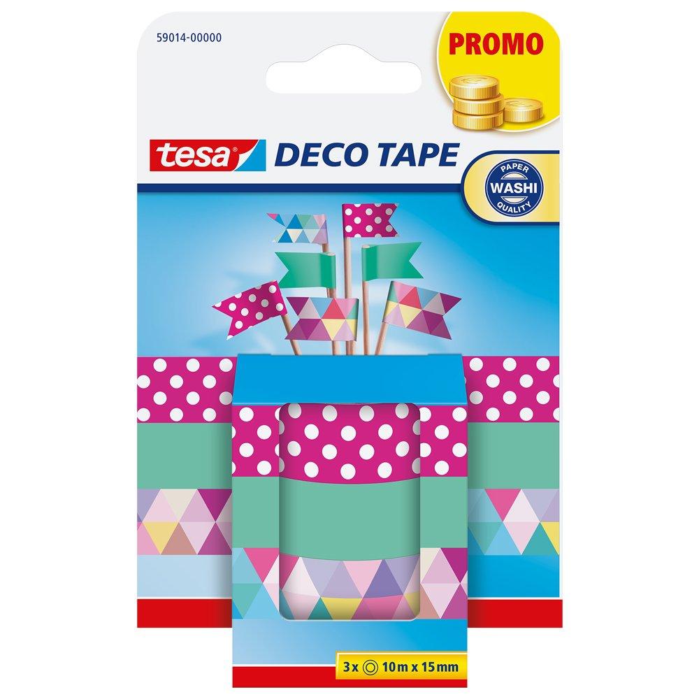 Tesa 59014-00000-00 Cinta Adhesiva Decorativa para Decorar y adornar, Estampados, 10 m x 15 mm Tesa Tape