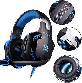 Over In-Ear Headset con micrófono Future Past DJ Auriculares Gaming Headset Audio Stereo con LED para PC PS4 Xbox One Tablet, Smartphone.: Amazon.es: Bricolaje y herramientas