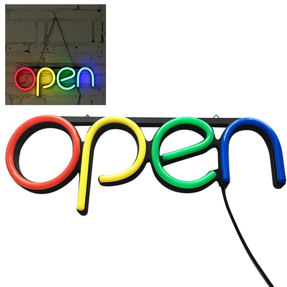 BovoYa 1 Pezzo Negozio LED Open Segno pubblicit/à luci per Cafe Bar Pub Neon Luce Ristorante Store Open Sign Lighting
