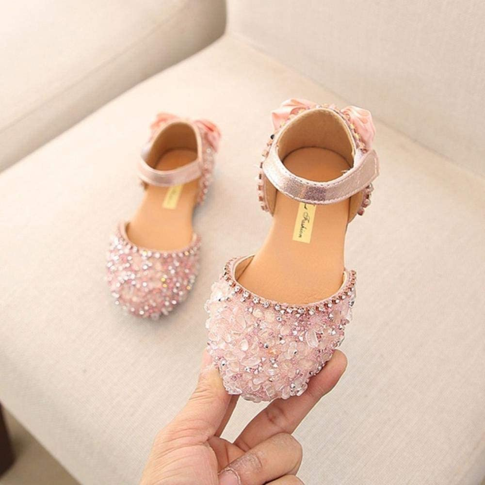 Sandalias para niñas verano niños niñas niñas bebé niña lazo L sandalias de princesa zapatos de boda #TX4, rosa, 13
