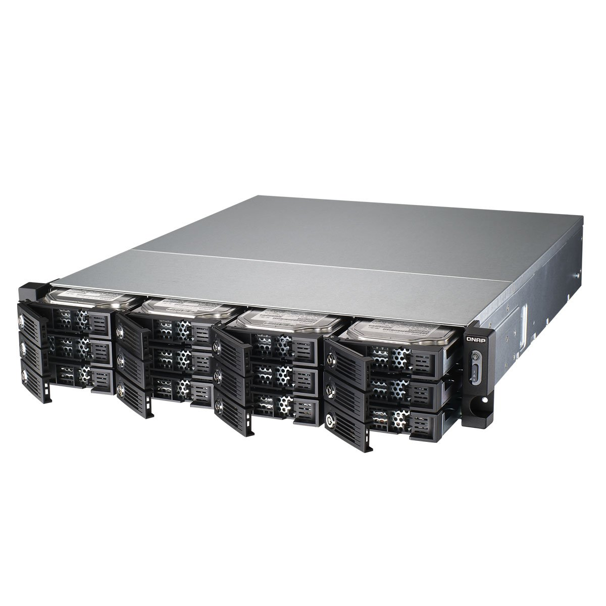 QNAP TS-1253U-RP 12-bay 2U iSCSI NAS, Intel 2.0GHz Quad Core CPU with 4GB RAM, 2.5''/3.5'' SATA 6Gb/s, Hot-swappable, Redundant PSU by QNAP (Image #2)