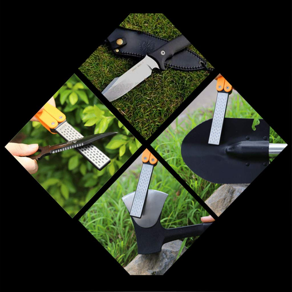 Size:12.5x3.2x1.6cm Outdoors and Kitchen Reshapes a Razor Sharp Edge in Seconds,Non-Slip YUBINK Multifunction Fishing Quick Edge Sharpener for Camping