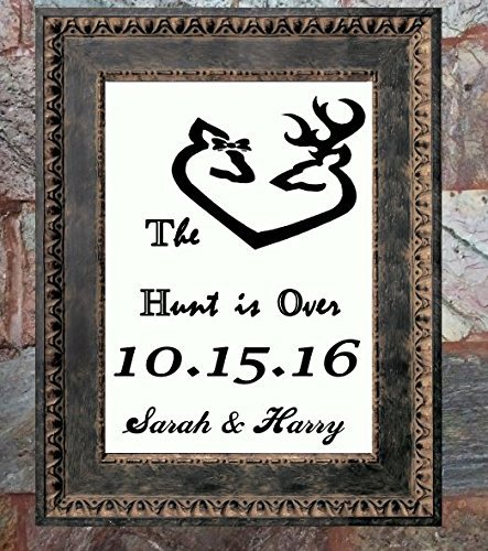Browning Deer & Doe, The hunt is over , Antler Love Print, Burlap Print, Personalized Anniversary Gift, Wedding Gift, Bridal Shower Gift, Engagement Gift