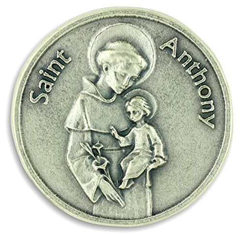 Saint Anthony / Prayer Pocket Token Charm Coin (Anthony Pocket)