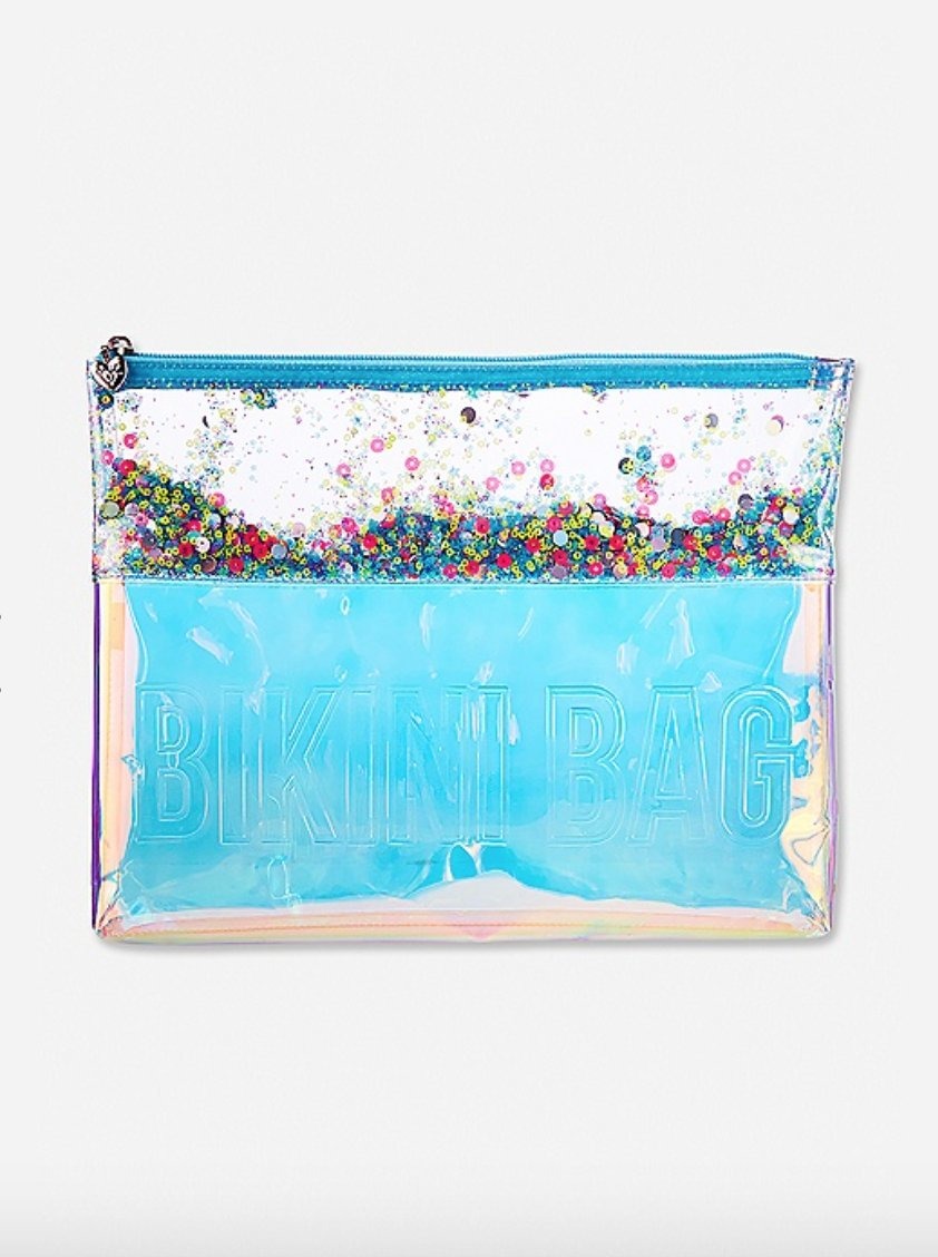 Justice Swim Beach Bikini Clutch Bag for Girls Iridescent Shaky by Justice (Image #1)