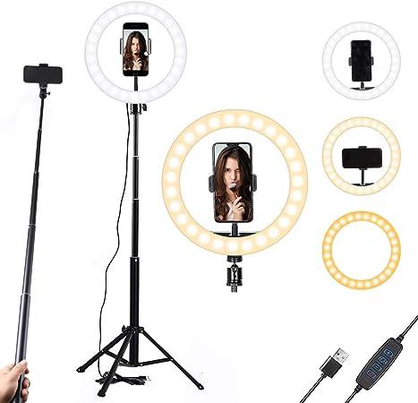 25 4 Cm Selfie Ringlicht Mit Ständer Und Handy Halter Kamera