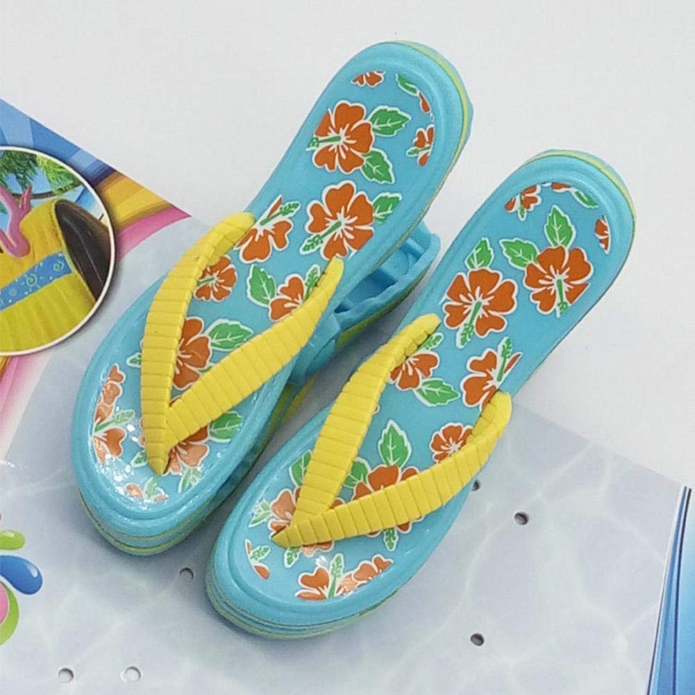 Clothes Quilt Clip Cruise Beach Patio Or Pool Accessories Novelty Cute Plastic Clothes Pants Beach Towel Clip for Home Slippers Shaped Quilt Clip Beach Towel Holders Clips