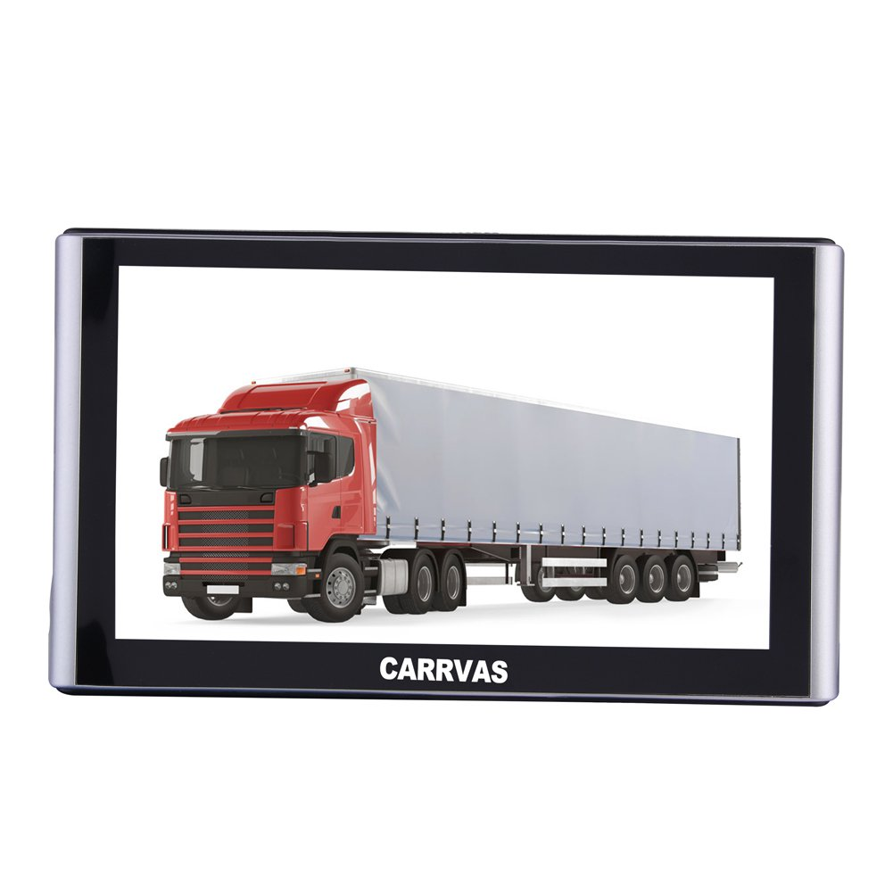 CARRVAS 7 Zoll Sat Navi Europe Traffic GPS Navigationsgerä t fü r ganz Europa fü r LKW KFZ TAXI Fahrspurassistent Sprachfü hrung Blitzerwarnungen CAV739