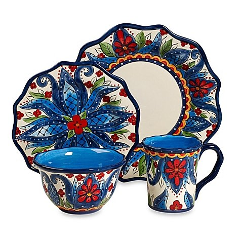 Tabletops Unlimited Lucca 4-Piece Scalloped Place Setting