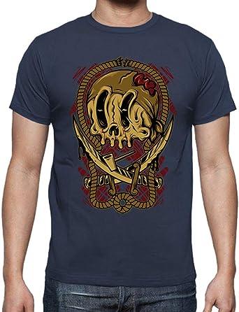 latostadora - Camiseta Pirata de la Muerte para Hombre Denim 4XL: Amazon.es: Ropa y accesorios