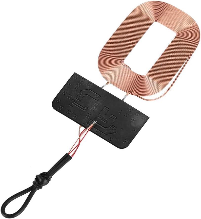 Zerone DIY - Receptor de Carga inalámbrico Qi de 5 W con módulo de Circuito de Bobina para Smartphone inalámbrico QI