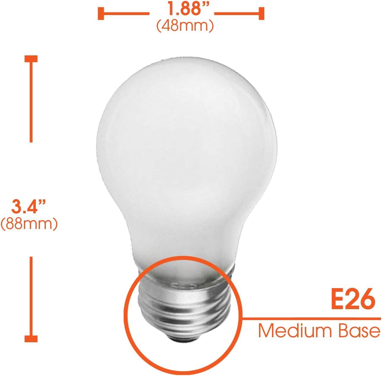 130V 40 Watt 320 Lumens 2700K Soft White E26 Medium Base 6 Pack Frosted A15 Incandescent Appliance Light Bulb