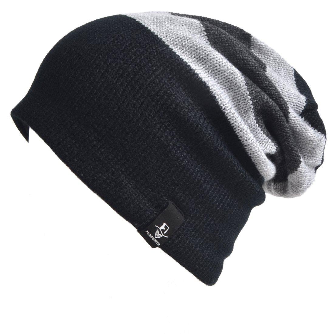 VECRY Trendy Baby Beanie Winter Hat Cute Kids Boys Girls Toddler Knitted Skull Cap F-B308k-Grey