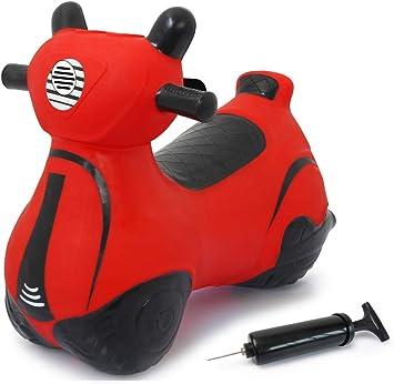 Jamara 460572 - Rodillo Saltador de Color Rojo hasta 50 kg, promueve el Sentido del Equilibrio y Las Habilidades motrices, Robusto y Resistente, fácil de Limpiar