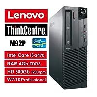Ordinateur Lenovo ThinkCentre M92P SFF–Core i5, RAM 4Go, hDD 500GB 7200RPM, DVDRW, Windows 7Pro + Windows 10Pro Upgrade (Unité certificat)