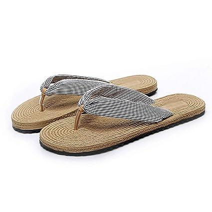 Zapatillas HUYP Chanclas, Imitación, Cáñamo, Moda Femenina De Verano, Usar Zapatos con