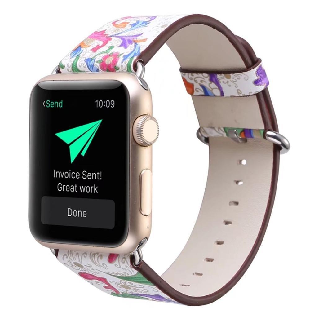 Kobwa for Apple Watchバンド42 mm、ソフトPUレザー田園/田舎スタイル交換用ストラップ手首バンドwithステンレスメタルClasp for Apple Watchシリーズ1シリーズ2すべてのモデル   B072JYLDHL
