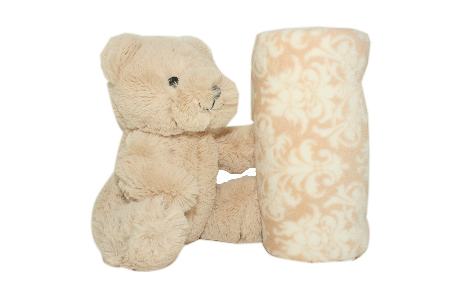 SILVER ONE Plush Stuffed Animal Teddy Bear and Blanket 2 Peice Gift Set for Kids/Children | 40'' x 50'' Soft Plush Throw | Get Well Gift