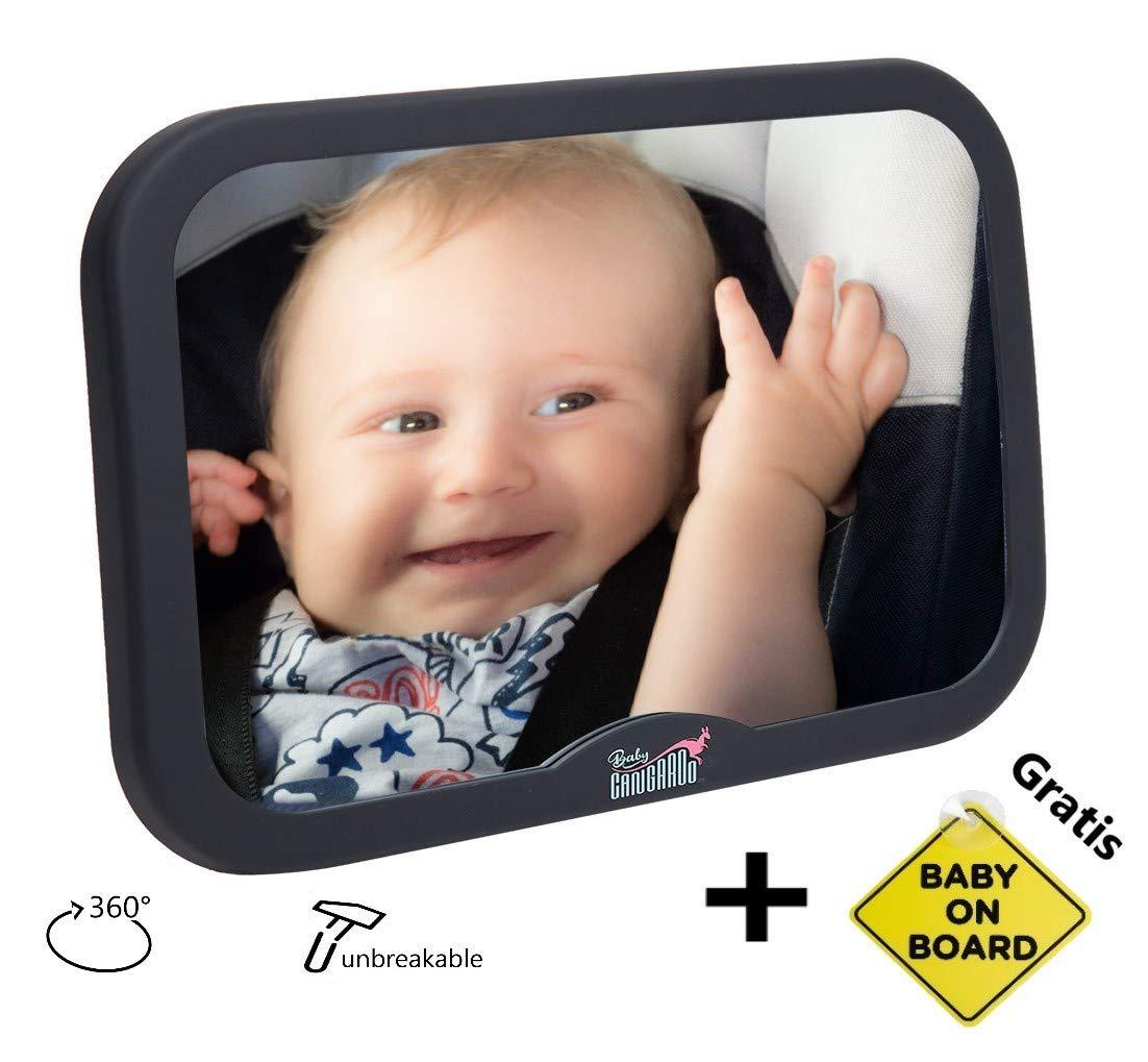 Bimbo a Bordo Ventosa BabyCANGAROO Specchietto Retrovisore Bambini Specchio Auto Neonato