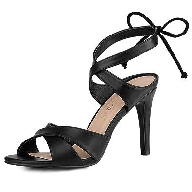 9cf191d570b28 Allegra K Women's Ankle Tie Stiletto Sandals