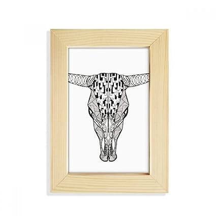 Amazon com - DIYthinker Long Face Cow Animal Portrait Sketch