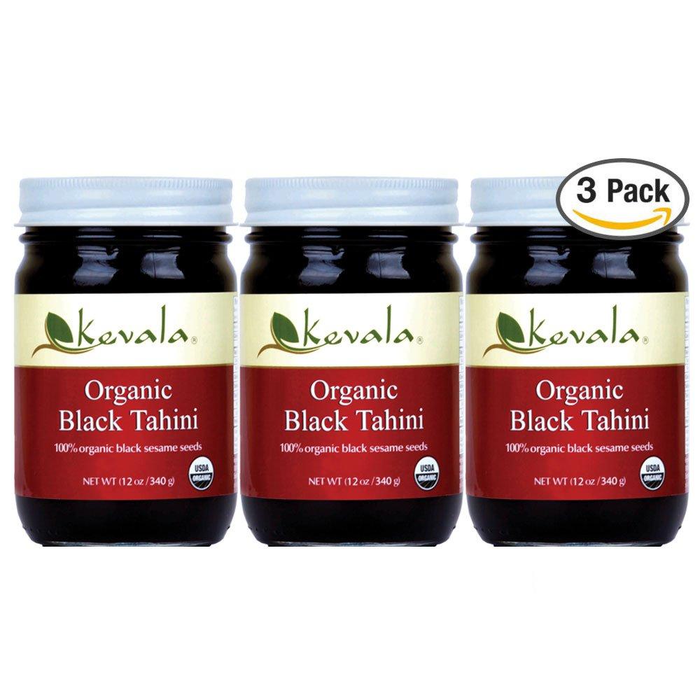 Kevala Organic Black Sesame Tahini 12oz (3 Pack)