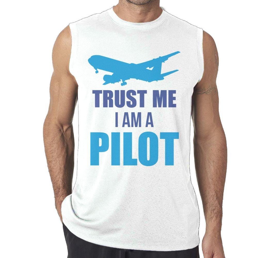 Tanks Tops Sleeveless T-Shirts Fit Mens Trust Me I Am A Pilot 1 Cotton
