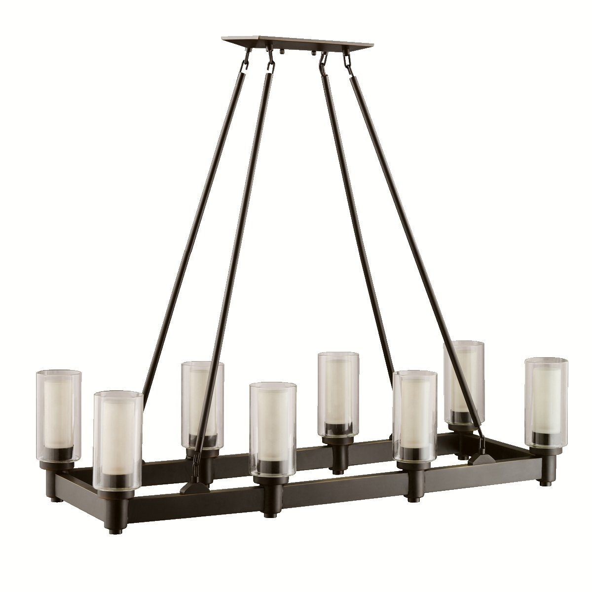 Kichler 2943ni eight light linear chandelier kichler light circolo kichler 2943ni eight light linear chandelier kichler light circolo rectangular amazon arubaitofo Choice Image