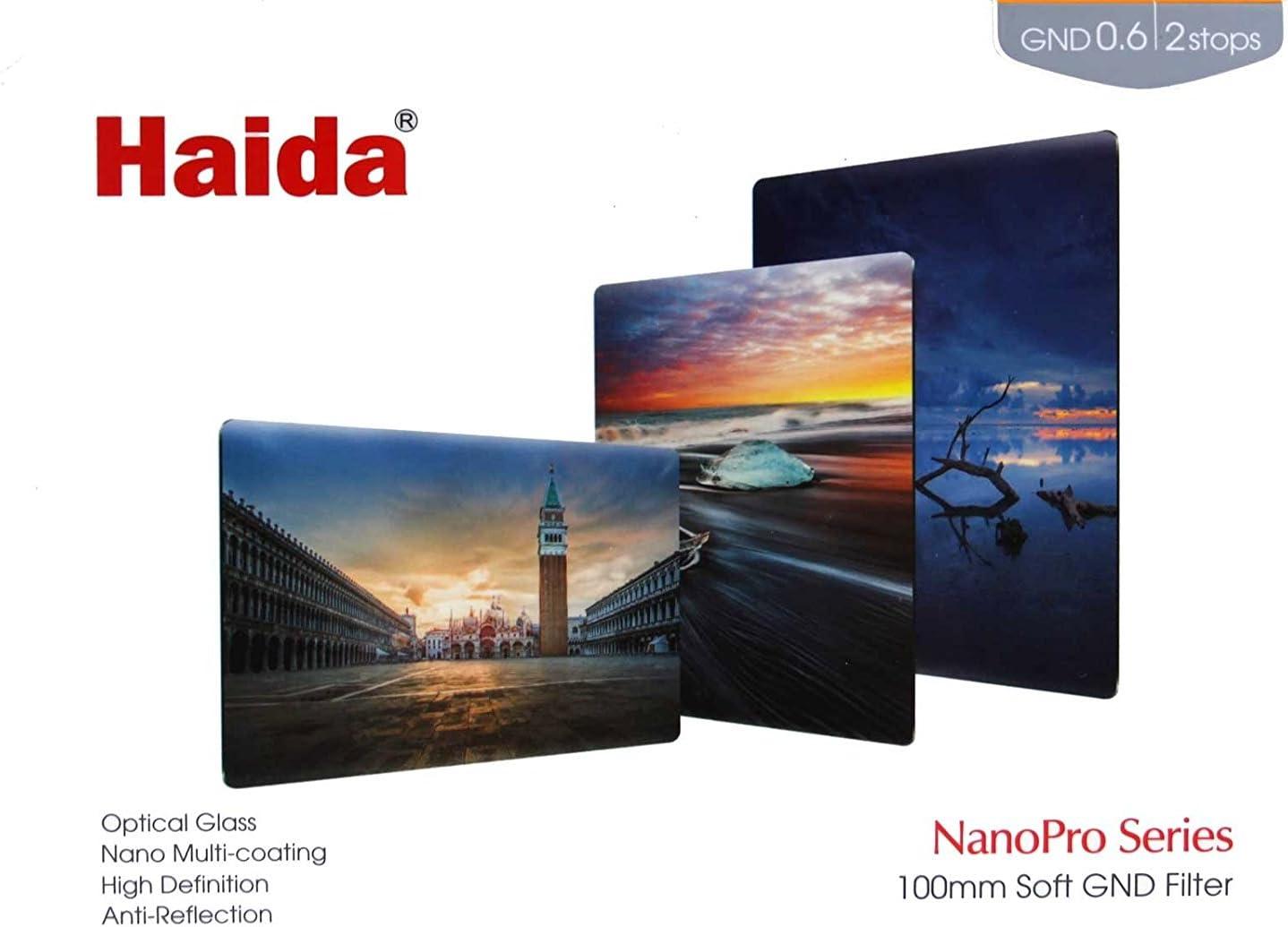 Haida NanoPro 100mm x 150mm MC Soft Grad ND 0.6 2 Stop Optical Glass Filter 100 ND4 Neutral Density HD3451