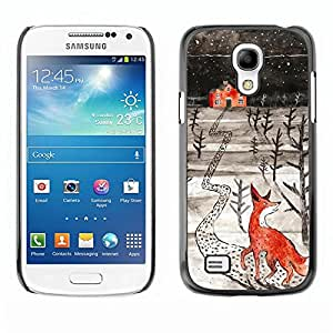Be Good Phone Accessory // Dura Cáscara cubierta Protectora Caso Carcasa Funda de Protección para Samsung Galaxy S4 Mini i9190 MINI VERSION! // Art Winter Home Kids Drawing