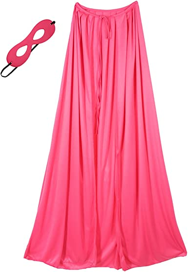 "48/"" Adult Pink Superhero Cape /& Mask Costume Set ~ HALLOWEEN COSTUME PARTY"