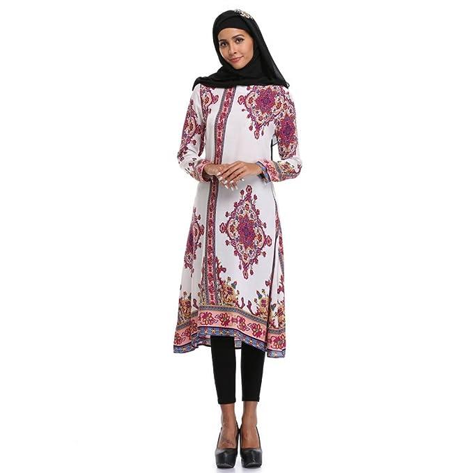 Longra Damen Festkleid Muslim Dubai Kleider Muslimisch Islamisch ...