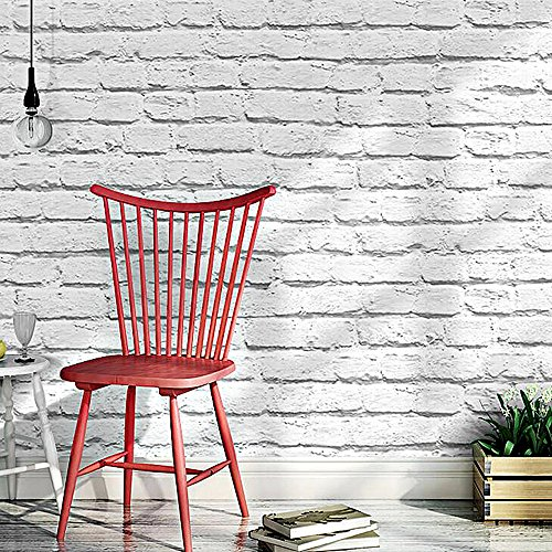 Modern Rustic Faux Painted Brushed Brick Wallpaper,looks ...