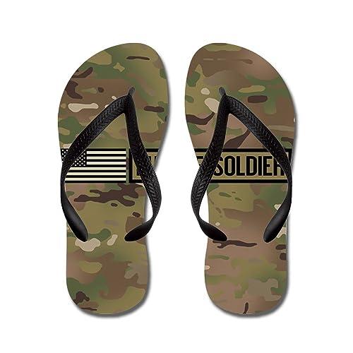 U.S. Army: Future Soldier (Black) - Flip Flops Funny Thong Sandals Beach Sandals