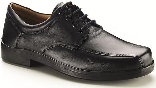 c13c585d5fc0d Mens Extra Wide Fit Black Lace Up Shoes.: Amazon.co.uk: Shoes & Bags
