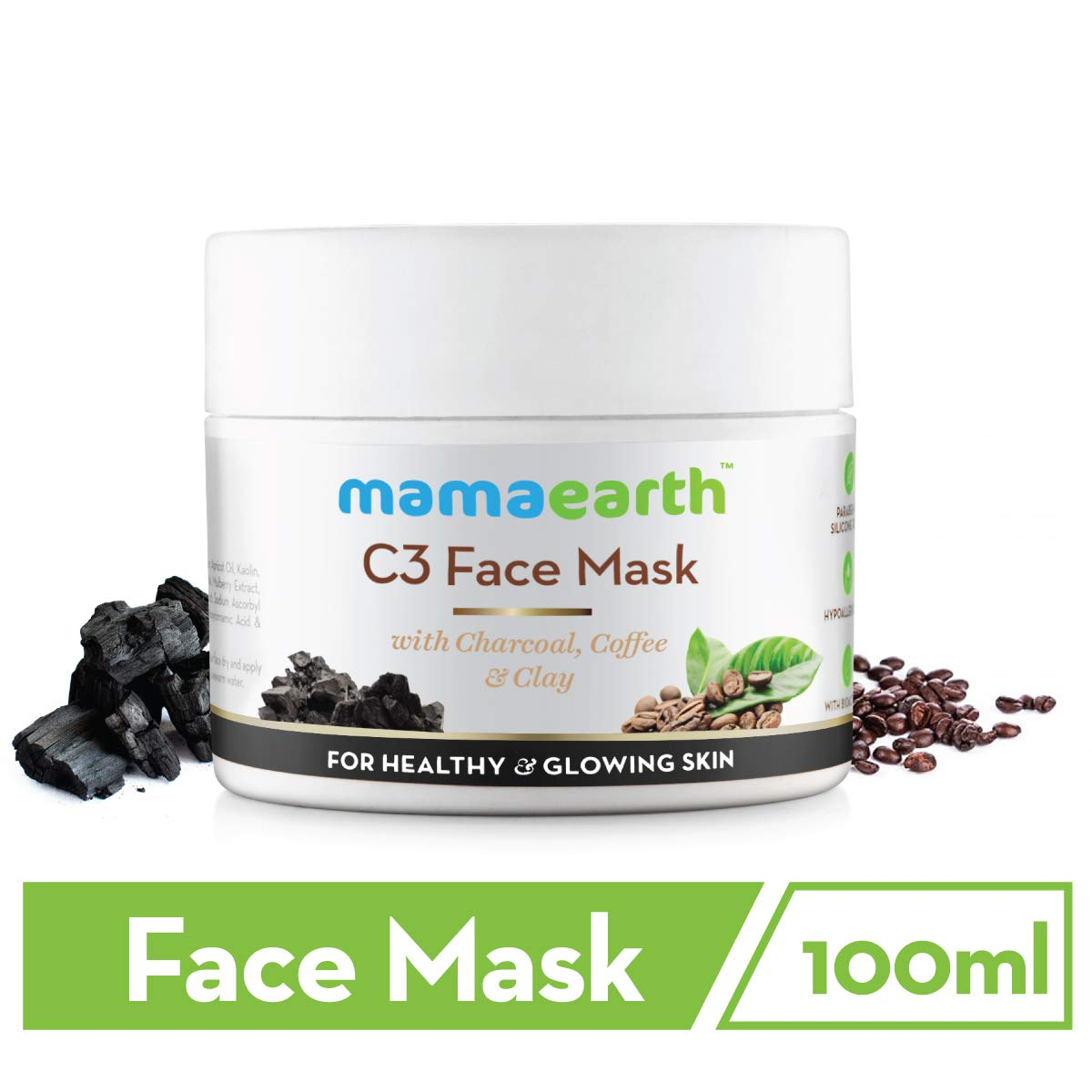 Mamaearth Charcoal, Coffee and Clay Face Mask