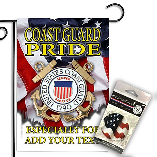 Brotherhood Personalized US Coast Guard with Soldiers Garden Flag and Car Coaster - Coast Guard Car Flag