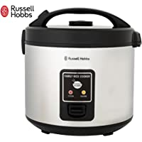 Russell Hobbs RHRC1 Rice Cooker 10 Cup, Silver