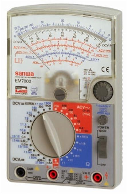 sanwa em7000 analog multimeter fet testergenuine by sanwa circuit rh amazon com Multimeter Sanwa Com www Sanwa Multimeter 773 Cena