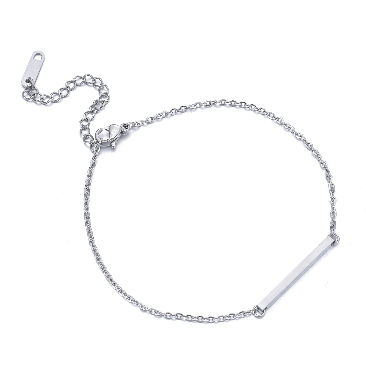 HooAMI Womens Stainlss Steel Anklet Bracelet Beach Barefoot Sandal Foot Chain 19cm+6cm Best-shopping BETY131254